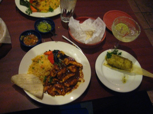 Our entrees from Salsa a la Salsa, Minneapolis