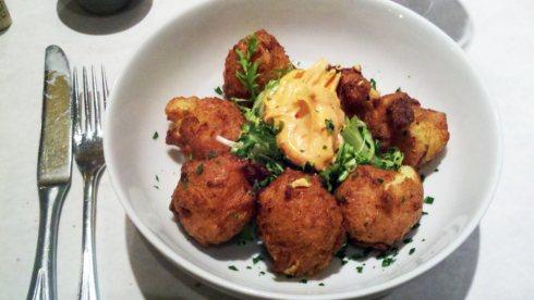 Cauliflower Leek Beignets